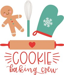 Christmas Cookie Baking Crew print art