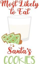 Eat Santas Cookies print art