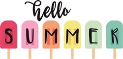 Hello Summer Popsicles print art