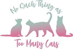 Never Too Many Cats print art