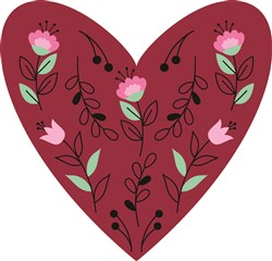 Valentine Floral Heart print art