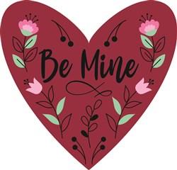 Be Mine Valentine Heart print art