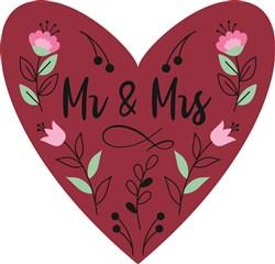 Mr. & Mrs. Heart print art