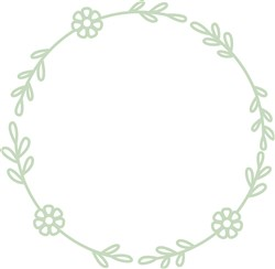 Floral Wreath print art