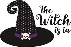 The Witch Is In Hat print art