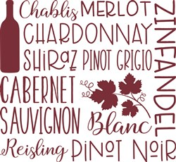 Types of Wine print art