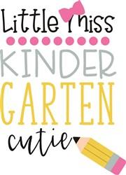 Little Miss Kindergarten Cutie School Pencil print art