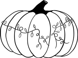 Outline Pumpkin print art
