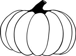 Pumpkin Outline print art