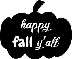 Happy Fall Yall print art