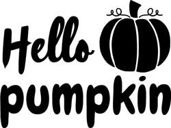 Hello Pumpkin print art