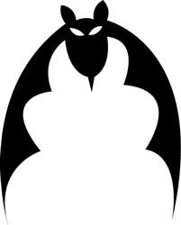 Bat print art