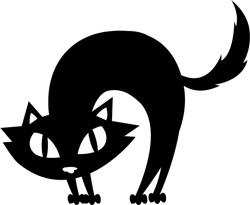 Scared Cat print art