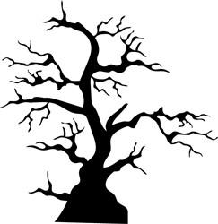 Tree Silhouette print art