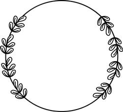Wreath Of Leaves print art