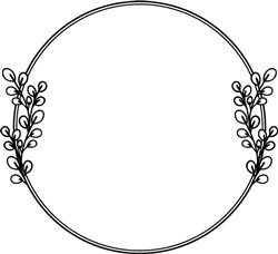 Wreath Frame print art