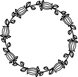 Flower Wreath print art