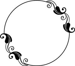 Swirl Frame print art