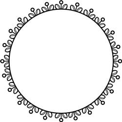 Floral Circle Frame print art