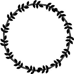 Circle Of Leaves print art