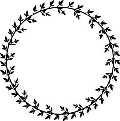 Round Wreath print art