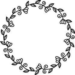 Flower Circle print art