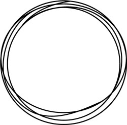 Circles Border print art