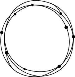 Dotted Circle print art