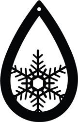 Snow Flake Earring print art