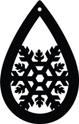 Snowflake Earring print art