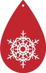 Snowflake Teardrop Earring print art