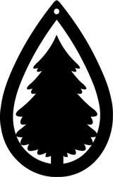 Holiday Tree Earring print art