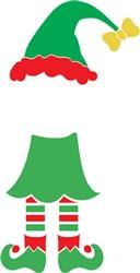 Christmas Monogram Elf print art