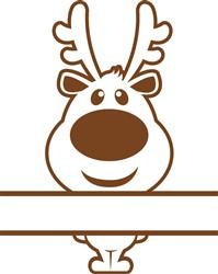 Namedrop Reindeer print art