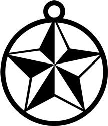 Star Ornament print art
