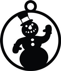 Snowman Ornament print art