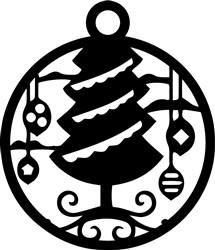 Xmas Tree Ornament print art