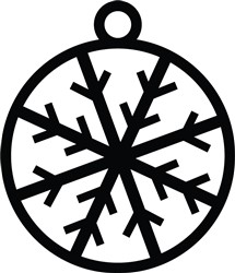 Snowflake Ornament print art