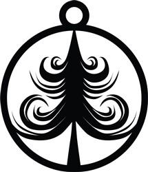Swirl Tree Ornament print art