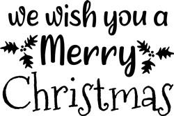 A Merry Christmas print art