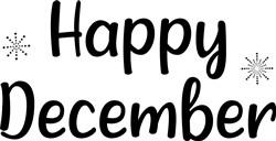 Happy December print art