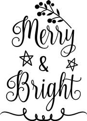 Merry & Bright print art