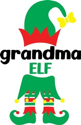 Grandma Elf print art