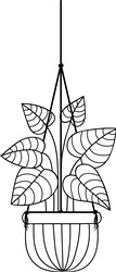 Potted Plant print art