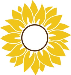 Monogram Sunflower print art