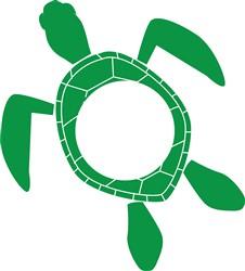 Monogram Turtle print art