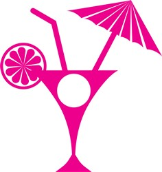 Cocktail Monogram print art