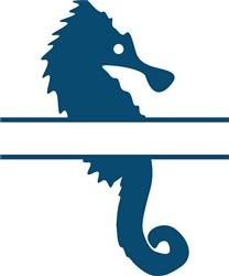 Seahorse Namedrop print art