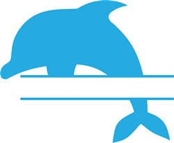 Dolphin Name Split print art