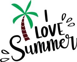 I Love Summer print art